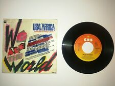USA FOR AFRICA - We Are The World ► - Good Condition Single CBS A6112