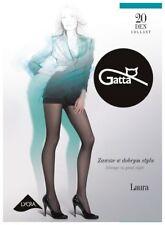 Collant voile noir classique femme GATTA LAURA 20 DEN T1 T2 T3 T4 T5 T6