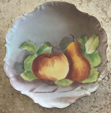 Antique Limoges France Ldbc Flambeau Hand Painted Plate Signed 10�