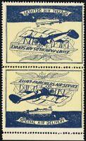 CL9b, VF NH Tete-beche Vert Pair Semi-Official Stamps CV $225.00 - Stuart Katz