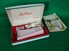 Vintage Pink Confetti  Lady Remington Sperry Rand Electric Shaver Orig Case USA