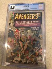 Avengers #12 CGC 8.5 Off white White 1965 -- Kirby Thor Hammer Smash. Mole Man