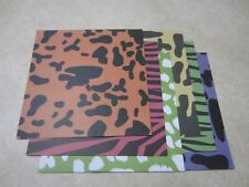 "SALE!! 6"" x 6"" SCRAPBOOKING PAPER - ANIMAL PRINTS #2 - LOT OF 6 SHEETS"