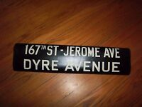 VINTAGE NYC SUBWAY R12/14/15 167 ST JEROME AVE DYRE BRONX COLLECTIBLE ROLL SIGN