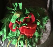 Poppy Garden Felted Wool Large Bag Woodland Pixie Fairy Lined
