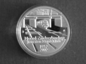 Belgium 10€ Silver Proof 2002 qp Belgian Railway System Train Locomotive KM#233