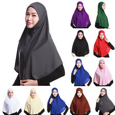 Lady Long Soft Inner Scarf Cap Bonnet Full Coverage Head Neck Cover Muslim Hijab