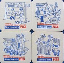Bierdeckel Serie Martinsbräu Marktheidenfeld 1973 komplett - Bayern Franken