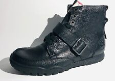 True Religion Black Ricky Leather Mens Hi- Top Boots Sneaker  Sz 9 TR180100-01A