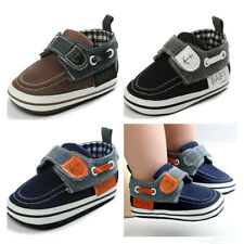 Newborn Baby Boys Crib Shoes Infant Anchor Casual Shoes Child PreWalker Trainers