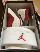 New Nike Air Jordan Retro 13 XXIII GREY TOE Gift Pack True Red Baby Shoes 3c
