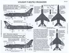 Berna Decals 1/48 VOUGHT F-8E FN CRUSADER French Navy Part 1
