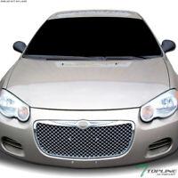 Topline For 2004-2006 Chrysler Sebring Mesh Front Hood Bumper Grille - Chrome