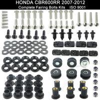 For 2007-2012 Honda CBR600RR 2008 2009 2010 2011 Fairing Bolt Kit Body Screws
