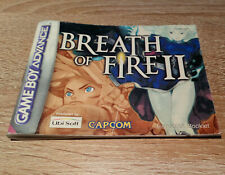 Gameboy Advance (GBA) // Breath of Fire II (2) - Anleitung/Instructions /dt. PAL