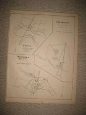 ANTIQUE 1893 TERRYVILLE WINSTED CANAAN SALISBURY NORFOLK CONNECTICUT HANDCLR MAP
