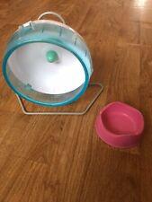 Small Hamster Wheel And Dish