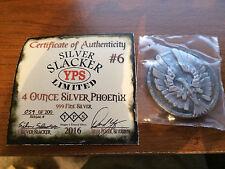 Silver Slacker Phoenix 4 Ounce .999 Silver Ingot Yeager's Poured Silver