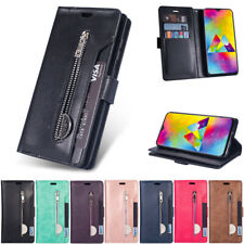Zipper Wallet Leather Flip Case Cover For Samsung A10 A20S A30 A50 S10 S9 S8Plus