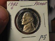 1982-S Proof Jefferson Nickel. From US Proof Set
