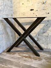 2 fatto a mano x FRAME crudo in acciaio di grandi dimensioni Tavolo da pranzo gambe per mobili stile industriale