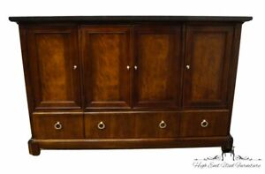 """STANLEY FURNITURE Flame Mahogany Traditional Style 70"""" Buffet Sideboard w. Bl..."""