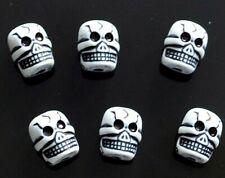 50pcs white skull acrylic beads 11x9mm