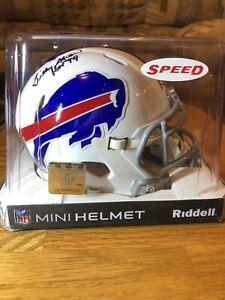 BILLY SHAW Mini Riddell Helmet Buffalo Bills Autograph Tristar