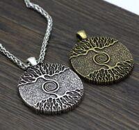 Men Pendant Necklace Vikings Amulet The Tree of Life Yggdrasil Nordic Talisman