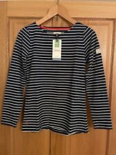 BNWT Joules Ladies Size 10 Navy Striped Top - Long Sleeve