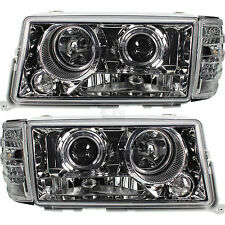 Scheinwerfer Blinker Set Mercedes 190 W201 Bj. 82-93 Klarglas chrom DE Licht