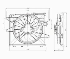 Dual Radiator and Condenser Fan Assembly TYC 621070 fits 05-14 Ford Mustang