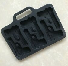 Gun Ice Cube Tray Pistol Shaped Cubes Weapon Chocolate Silicone Mould Veteran UK