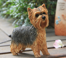 Resin MINI Yorkshire Terrier dog Hand Painted simulation model Statue M