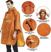 Mens Raincoat Hooded Waterproof Breathable Rain Coat Poncho Outdoor Camping 3IN1