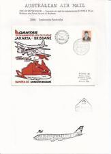 1985  Qantas 50th. Anniversary Jakarta To Brisbane Flight Cover