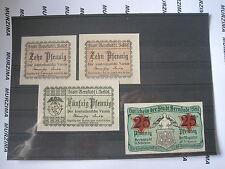 Notgeld Bernstadt in Schlesien 2 x10, 25, 50 pfennig