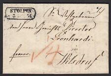 SACHSEN Brief 1836 STOLPEN nach WILSDRUF Inhalt  (15966