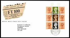 First Day Cover - FT100 - Prestige Stamp Book Pane (10016)