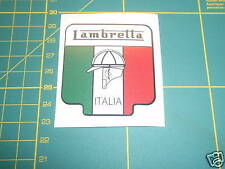 LAMBRETTA ( Vespa ) Scooter ITALIA FLAG SHIELD Sticker GP,TV,LI,SX,GT. 200 TS1
