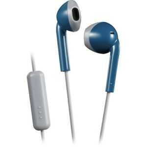 JVC HAF19MAH Retro In-Ear Wired Earbuds with Microphone (Blue)