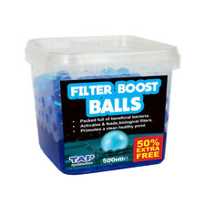 TAP POND FILTER BOOST BALLS 500ML + 50% EXTRA FREE START WATER TREATMENT FISH