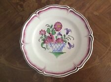 Antique Hand Painted Henri Chaumeil French Faience Wall Plate c1890, ff502