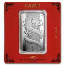 100~GRAMS ~.9999 SILVER ~ YEAR of the DRAGON ~ PAMP SUISSE ~ SEALED BAR ~$158.88