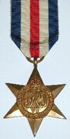 WW2 FRANCE & GERMANY STAR, 100% GENUINE FULL SIZE, WITH FREE ÛK POSTAGE