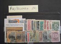 BULGARIA - BELLISSIMO LOTTO DI 28 FRANCOBOLLI - ANTICHI - VERO AFFARE - F11