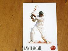 CRICKET - AAMIR SOHAIL - *RARE-  SELECT STAND UP CARD - 1996/97 MINT