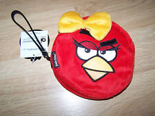 Red Angry Birds Female Girl Small Plush Purse Handbag Clutch Wristlet New