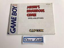 Notice - Mickey's Dangerous Chase - Nintendo Game Boy - PAL NOE