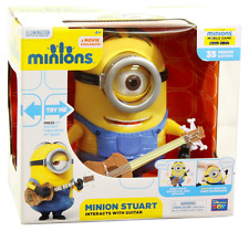 Genuine Talking Minion Stuart with Guitar from Despicable Me Minions Movie BNIB